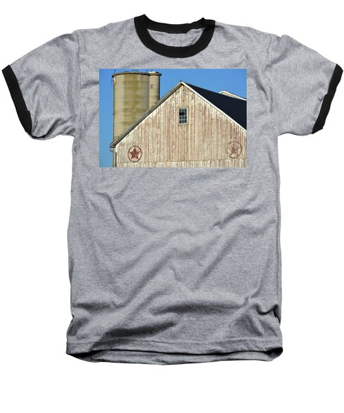 Stars In Circles Barn Baseball T-Shirt