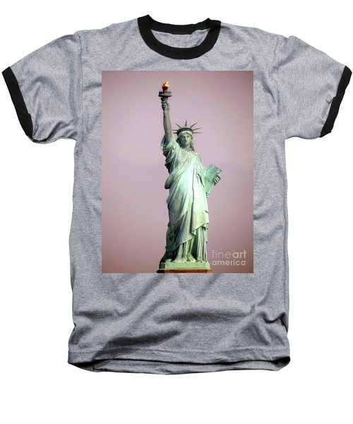 Statue Of Liberty Baseball T-Shirt by Ed Weidman