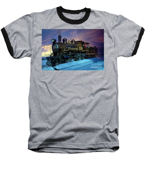 Steam Engine Nevada Northern Baseball T-Shirt