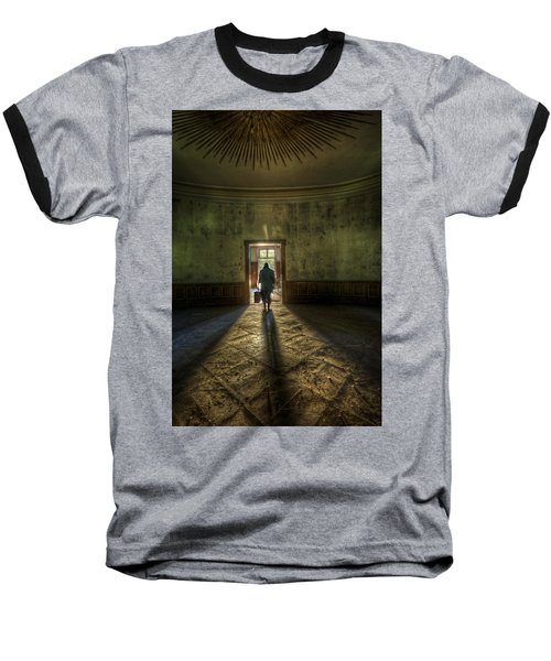 Step Into The Light Baseball T-Shirt by Nathan Wright