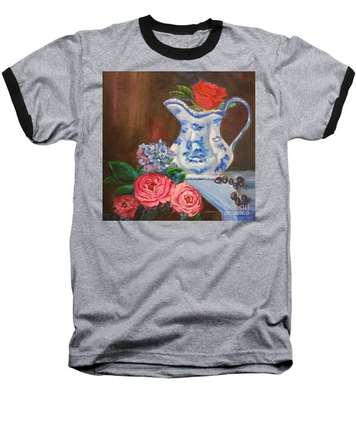 Still Life With Blue And White Pitcher Baseball T-Shirt