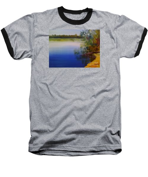 Still Waters - Original Sold Baseball T-Shirt by Therese Alcorn