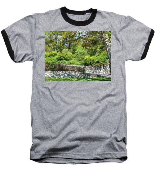 Stone Wall 1 Baseball T-Shirt by David Trotter
