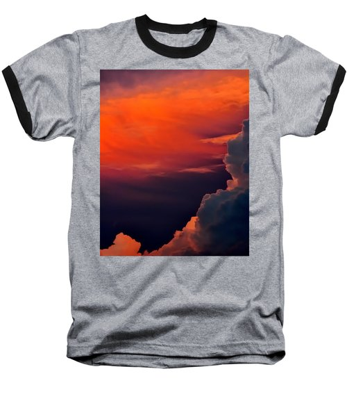 Storm Moving In 16101 Baseball T-Shirt by Jerry Sodorff