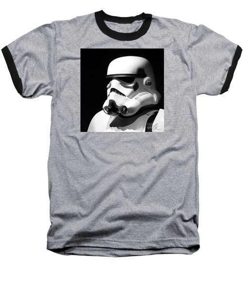 Stormtrooper Baseball T-Shirt by Chris Thomas