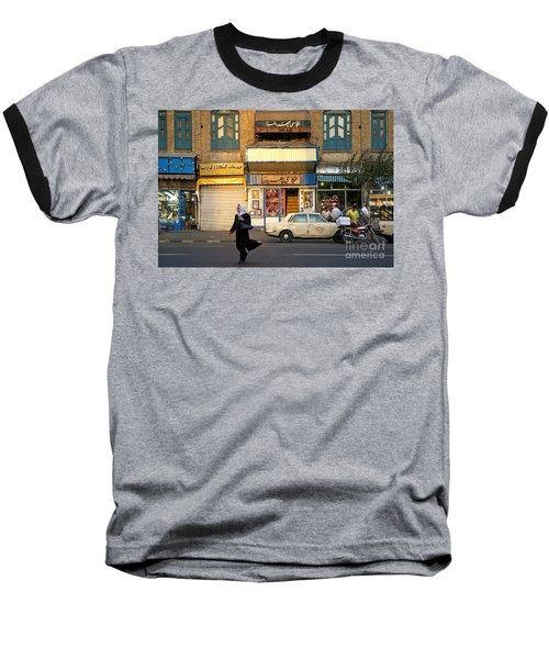 Street Scene In Teheran Iran Baseball T-Shirt