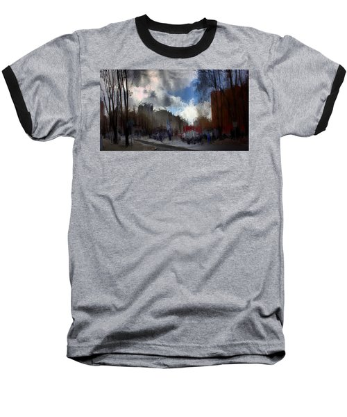 Streetlights 2 Baseball T-Shirt by Terence Morrissey