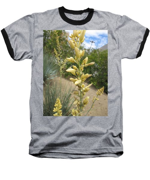 Baseball T-Shirt featuring the photograph 1 String Flowers    Photographed Las Vegas May 2014 by Navin Joshi