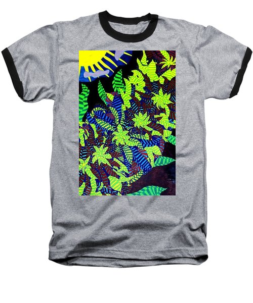 Baseball T-Shirt featuring the painting Summer Bloom by Jonathon Hansen