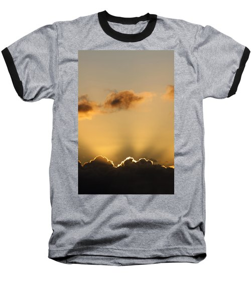 Sun Rays And Dark Clouds Baseball T-Shirt