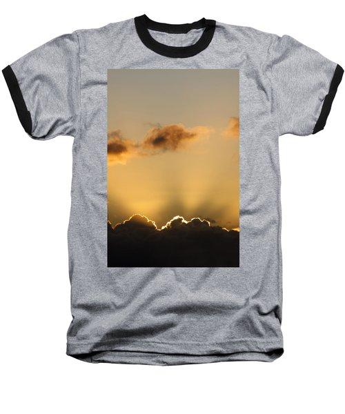 Sun Rays And Dark Clouds Baseball T-Shirt