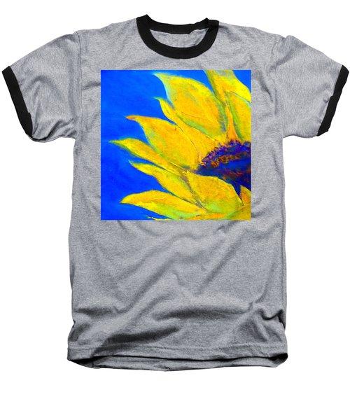 Sunflower In Blue Baseball T-Shirt