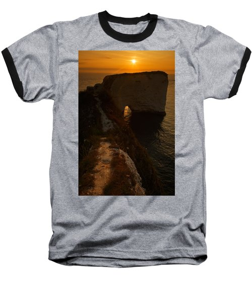 Sunrise At Old Harry Rocks Baseball T-Shirt