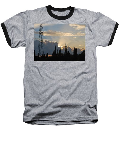 Sunrise Baseball T-Shirt by George Katechis