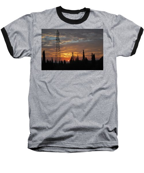 sunrise in Corfu 2 Baseball T-Shirt by George Katechis