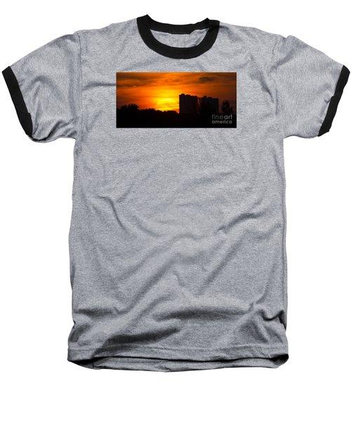 Sunrise  Baseball T-Shirt by Meg Rousher