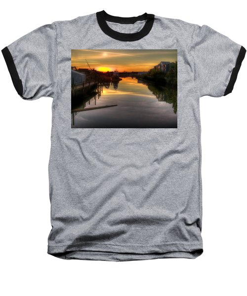 Sunrise On The Petaluma River Baseball T-Shirt by Bill Gallagher