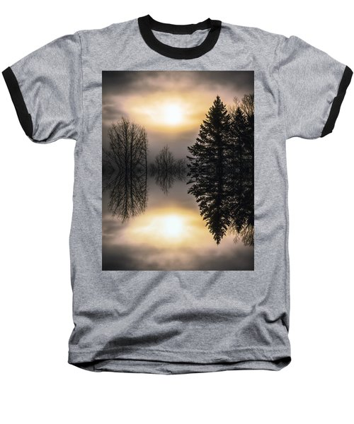 Sunrise-sundown Baseball T-Shirt by Sherman Perry