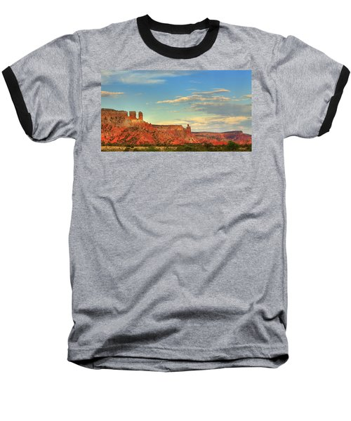 Baseball T-Shirt featuring the photograph Sunset At Ghost Ranch by Alan Vance Ley
