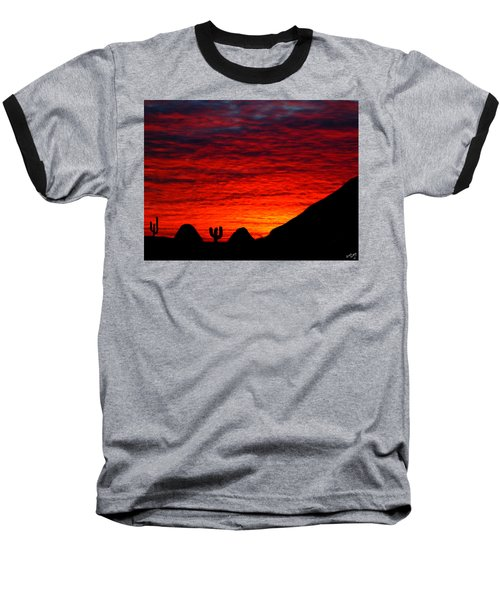 Sunset In The Desert Baseball T-Shirt by Bruce Nutting
