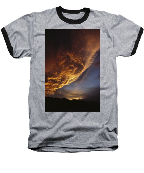 Sunset On Storm Clouds Near Mt Cook Baseball T-Shirt by Ian Whitehouse