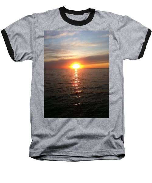 Sunset On The Bay Baseball T-Shirt