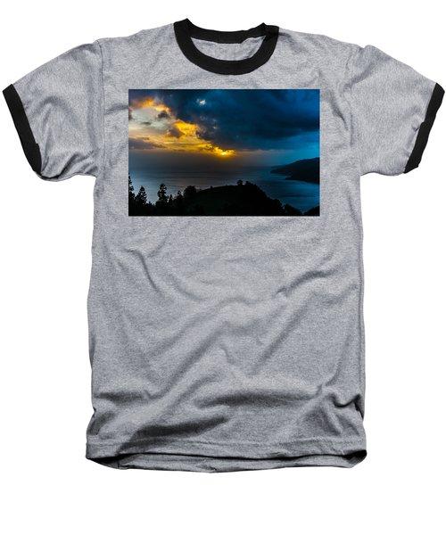 Sunset Over Blue Baseball T-Shirt