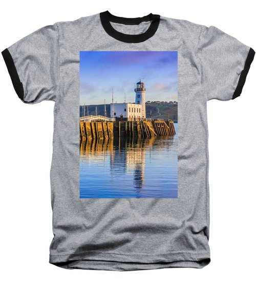 Sunset Over Scarborough Lighthouse Baseball T-Shirt