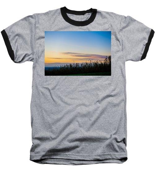 Sunset Over The Field Baseball T-Shirt