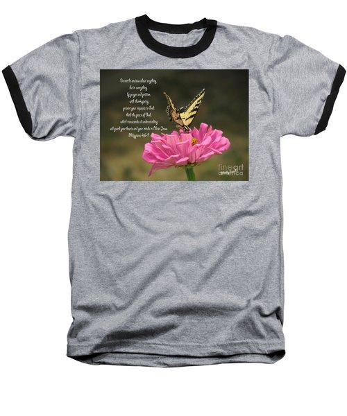 Swallowtail On A Zinnia Baseball T-Shirt