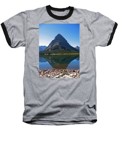 Baseball T-Shirt featuring the photograph Swiftcurrent  Lake Many Glacier by Joseph J Stevens