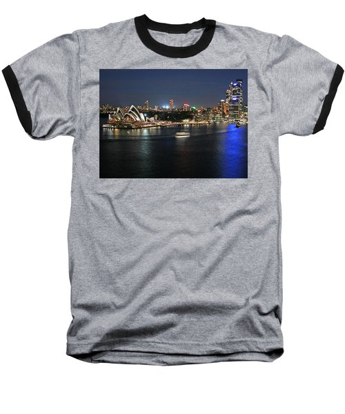 Sydney Harbor At Circular Quay Baseball T-Shirt by Ellen Henneke
