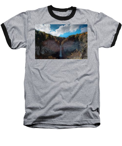 Baseball T-Shirt featuring the photograph Taughannock Falls Ithaca New York by Paul Ge