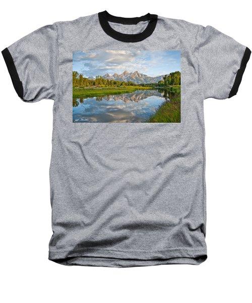 Teton Range Reflected In The Snake River Baseball T-Shirt