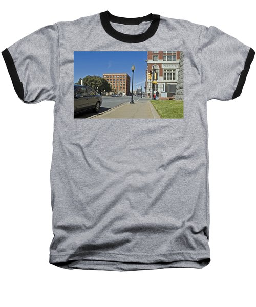 Baseball T-Shirt featuring the photograph Texas School Book Depository by Charles Beeler