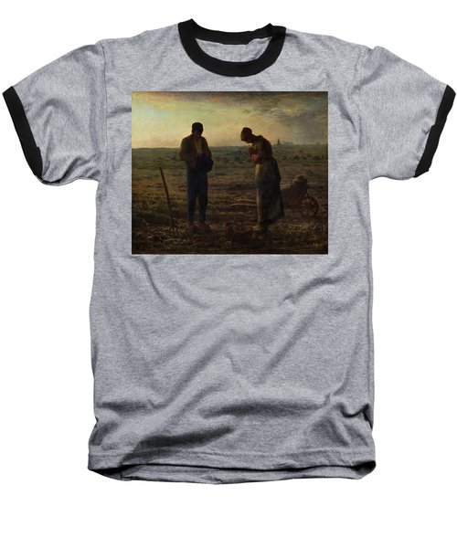 The Angelus Baseball T-Shirt by Jean Francois Millet