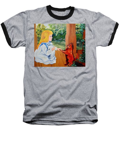 Baseball T-Shirt featuring the painting The Dance Lesson by Karon Melillo DeVega