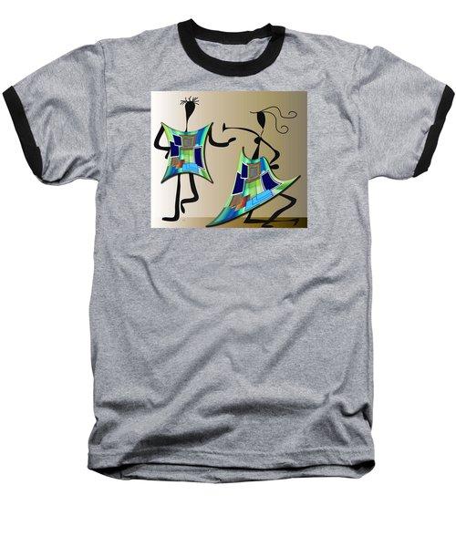 Baseball T-Shirt featuring the digital art The Dancers by Iris Gelbart