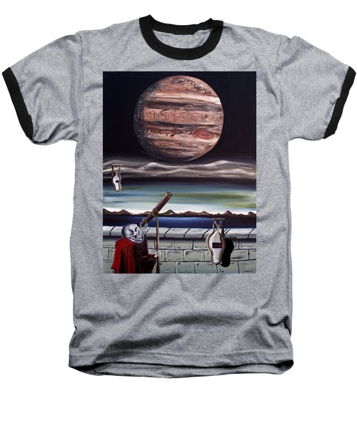 The Eternal Staring Contest Baseball T-Shirt by Ryan Demaree