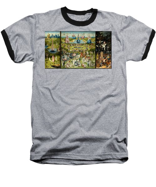 The Garden Of Earthly Delights Baseball T-Shirt by Hieronymus Bosch