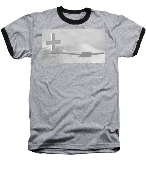 Baseball T-Shirt featuring the photograph The Grave Of Bobby Kennedy by Cora Wandel