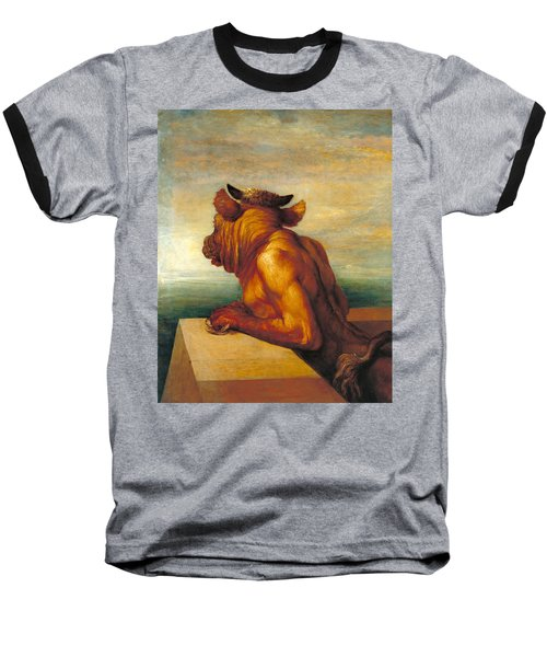 The Minotaur Baseball T-Shirt by George Frederic Watts
