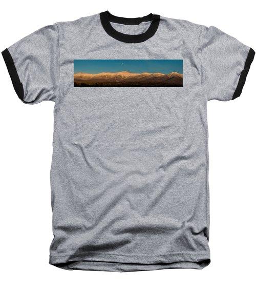 The Presidential Range White Mountains New Hampshire Baseball T-Shirt by Brenda Jacobs