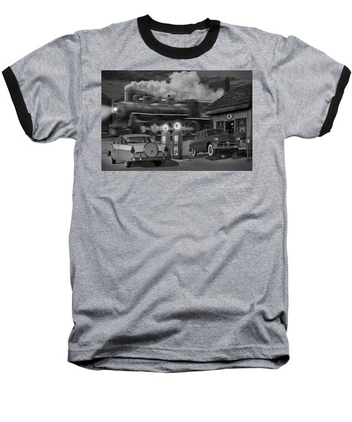The Pumps Baseball T-Shirt by Mike McGlothlen