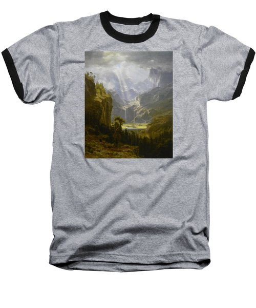 The Rocky Mountains Lander's Peak Baseball T-Shirt by Celestial Images
