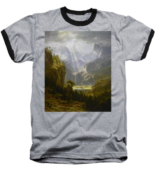 The Rocky Mountains Lander's Peak Baseball T-Shirt