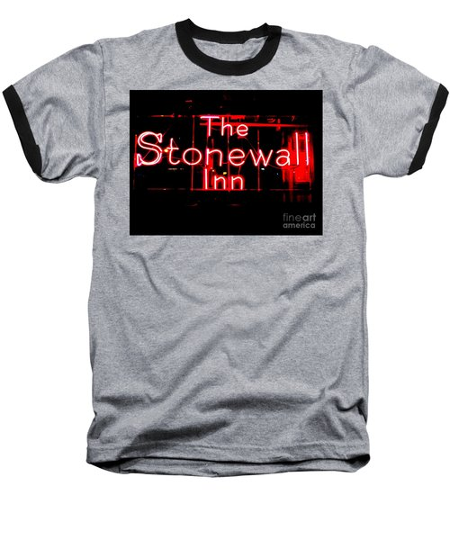 The Stonewall Inn Baseball T-Shirt by Ed Weidman