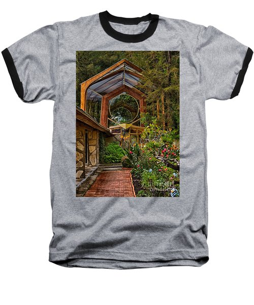 The Wayfarers Chapel Baseball T-Shirt by Donna Greene