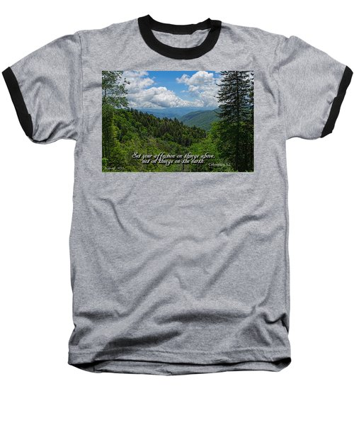 Baseball T-Shirt featuring the photograph Things Above by Larry Bishop