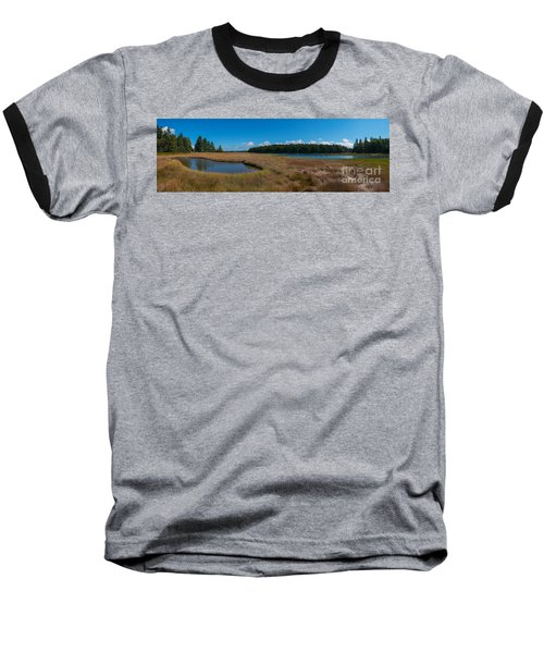 Thompson Island In Maine Panorama Baseball T-Shirt by Michael Ver Sprill
